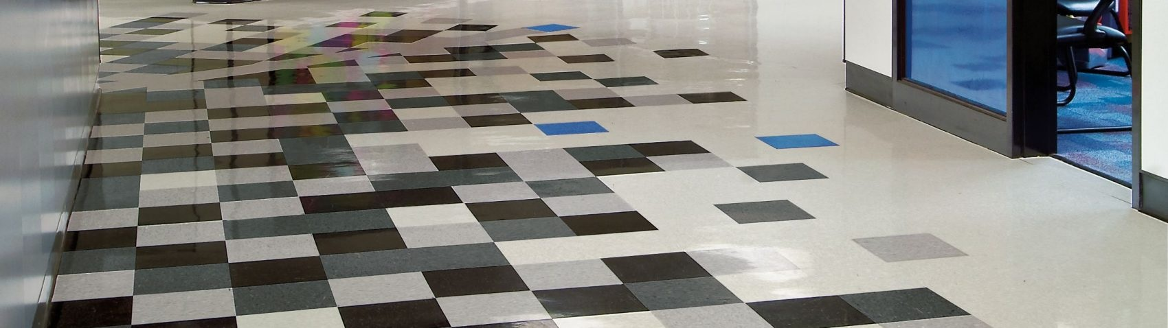 Commercial tile flooring